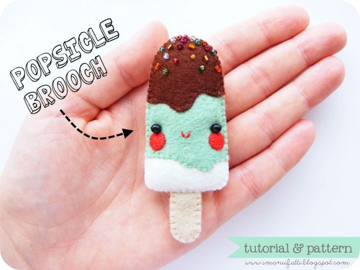 brooch popsicle  - pattern and tutorial