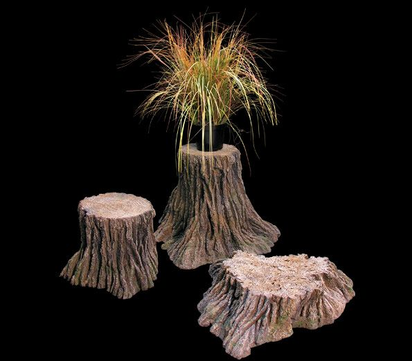 Three fake tree stumps for sale are molded by Commercial Silk Int'l. The tree stumps, although artificial, are incredibly realistic and can be used for display props or in artificial habitats. We also manufacture fake tree trunks and logs.