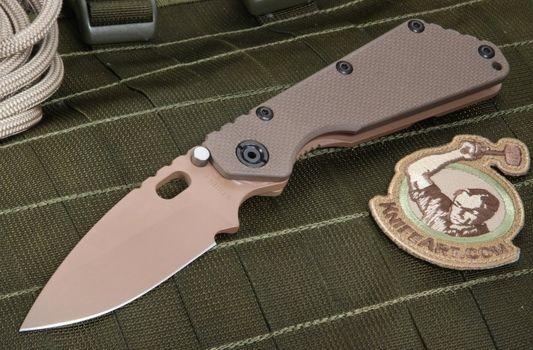 Strider SMF Coyote Tan Cerakote Tactical Folding Knife