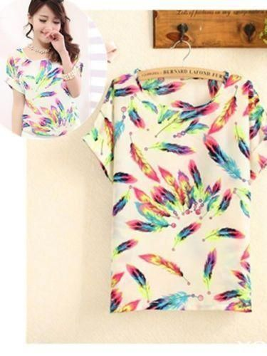 New 2015 Fashion Color 2014 Women Ladies Chiffon Tops Summer T  Shirt-in T-Shirts from Women's Clothing & Accessories on Aliexpress.com | Alibaba Group