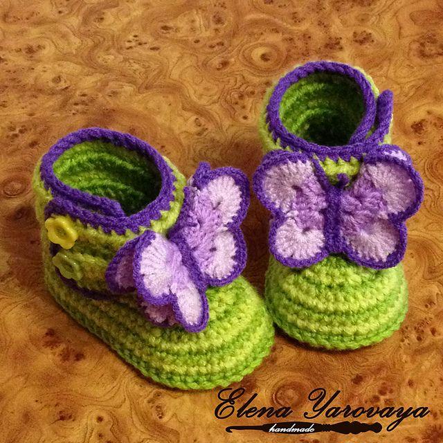 Ravelry: elena-dragon's crochet Butterfly booties