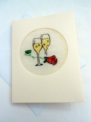 Wedding/Anniversary/Engagement Cross Stitch Card