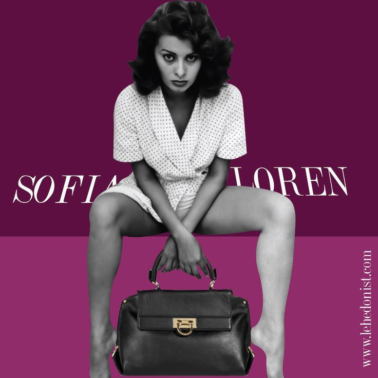 The stunning Sofia Loren is one of cinema's great beauties. She was the inspiration behind Ferragamo's best selling hang bag named 'Sophia'. Loren has been a long standing patron of Ferragamo with Salvatore having personally designed bespoke shoes for her among other things. The Sofia bag is elegant and timeless much like the star herself.