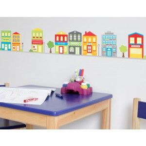 Little Town wall stickers from Bright Star Kids, to create a world in their own little world