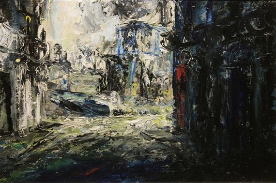 Artwork by Jack B. Yeats, THE FERRY BOAT, Made of Oil on board
