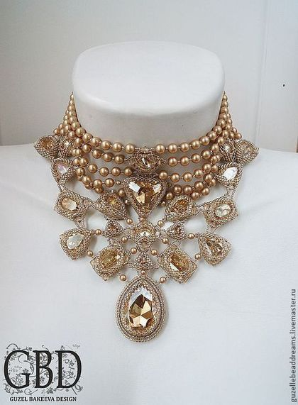 Купить или заказать Золотой Век в интернет-магазине на Ярмарке Мастеров. Золотое сияющее колье с кристаллами и жемчугом swarovski , графичное, деликатное, стильное. .............................................................................................................................................................................................................. на заказ можно сделать похожее колье на фото корсет Julina www.livemaster.