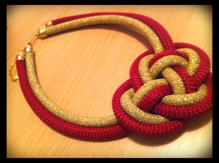 My own #DIY project #vasiakrist #rope #necklace