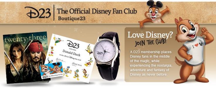 D23 membership. For the ultimate Disney Fan. :)