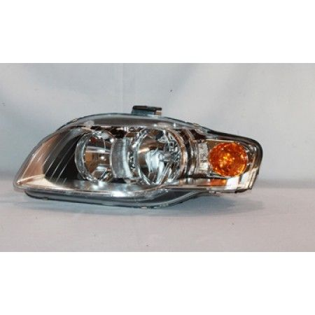 TYC 20-6936-00 | 2005 Audi A4 Chrome/Clear Halo Headlights for Coupe/Sedan/Hatchback/Wagon