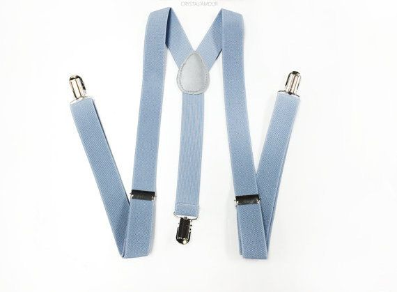 Hey, I found this really awesome Etsy listing at https://www.etsy.com/listing/229759415/light-gray-suspenders-dusty-blue