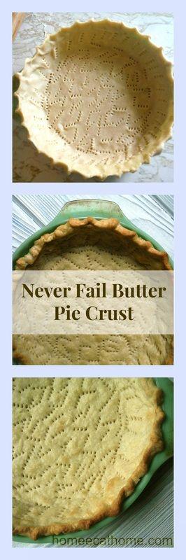 Never Fail Butter Pie Crust #butter #buttercrust #pies #piecrust #desserts #foodie #foodblogeats #foodblogger