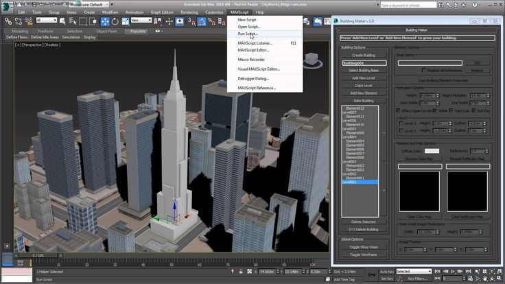 3ds Max - Creating City Blocks - Part 29 - Animating Building Growth