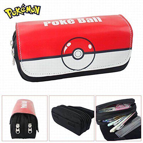 Estuches Material escolar Portatodo doble Pokemon Pokeball...
