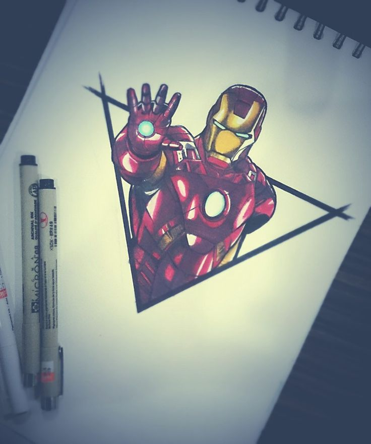 Iron man tattoo design