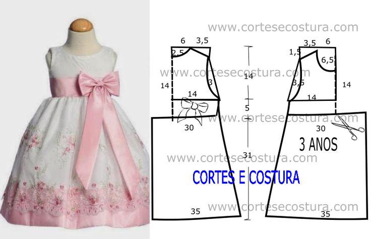 A pedido de algumas mães hoje vou abordar este vestido de criança com medidas é belo e fácil de fazer. As meninas vão adorar vestir este modelo de vestido.