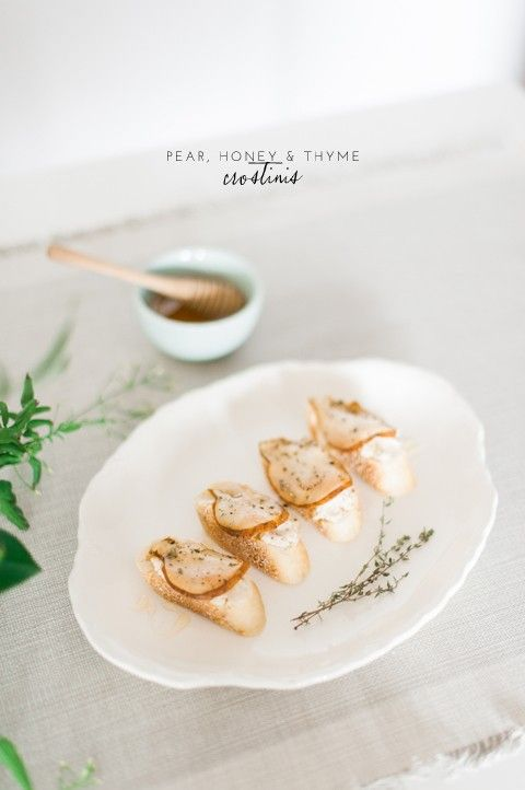 Pear Honey and Thyme Crostinis - lark & linenlark & linen
