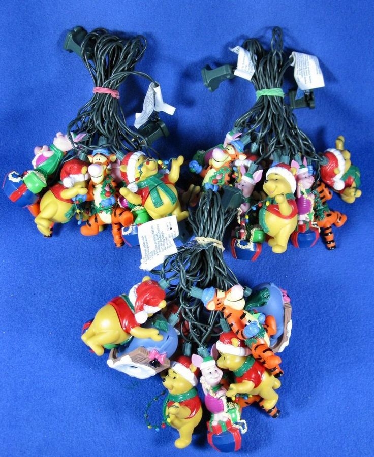 Disney Winnie the Pooh 3 Sets Christmas Illuminated Tree Trimmer String Lights #Disney