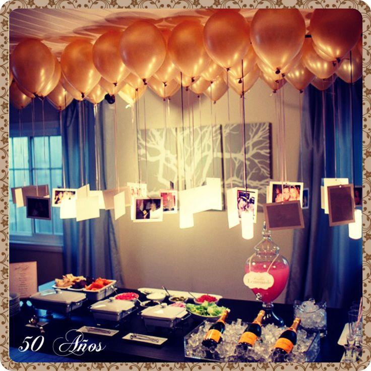 Festeja tu cumpleaños de una forma original Que tal este evento de 50 Años, te gusta?