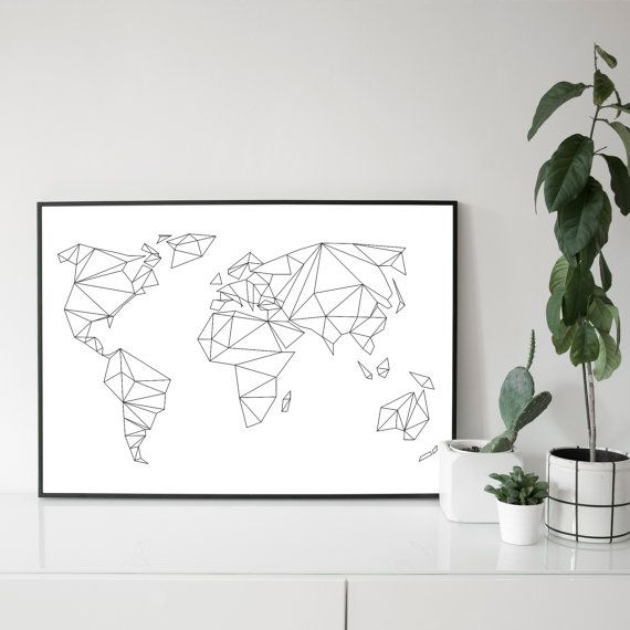 A1 / 50 x 70 POSTER Geometrical World by studionahili on Etsy