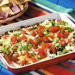 Hot Layered Taco Dip