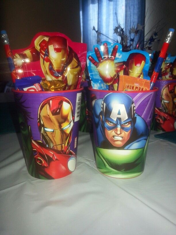 Super Hero Party Favors Cup From Wal Mart 87cents Candy