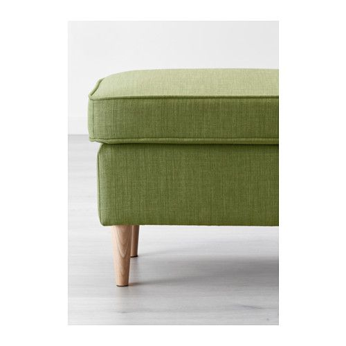 STRANDMON Footstool - Skiftebo green - IKEA