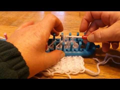 Afkanten breiraam dubbel breien rekbaar afkanten - YouTube