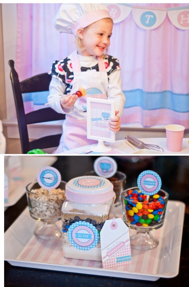 Little Chef birthday party - would be great for a holiday cookie decorating party too