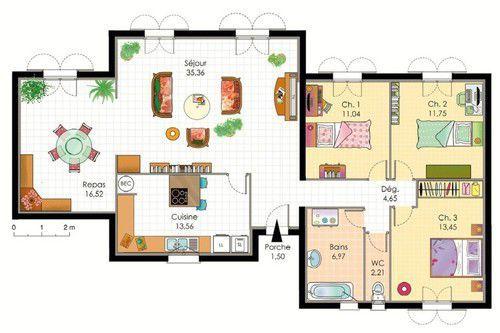 Villa provençale - Détail du plan de Villa provençale | Faire construire sa maison