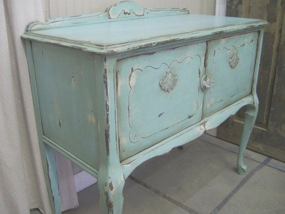 Shabby Aqua Painted Buffet Server Chic Aqua Paint Painted Buffet And Aqua