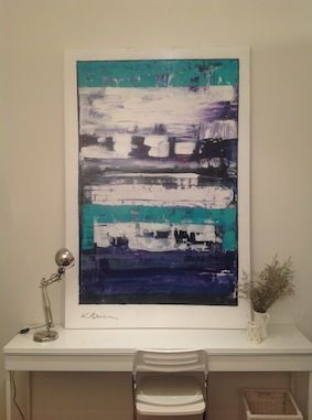 Kerry Armstrong, new arrival acrylic on canvas, teals, purples and magenta......just gorgeous120 x 180cmJust a reminder that the art can be brought to your home to try before you buy