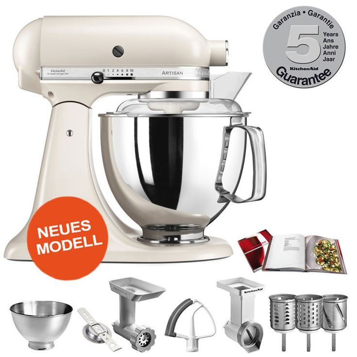Beautiful Kitchenaid Küchenmaschine Artisan Weiß 5ksm150psewh ...