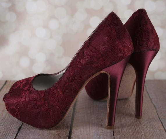 a1963f3a643 Wine Wedding Shoes