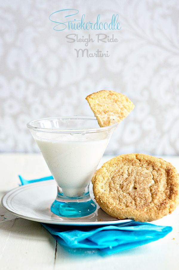 Cinnamon Sugar Vodka is infused with Sugar Cookie Sleigh Ride tea and shaken with cream to make an incredible and indulgent martini recipe you will love! from dineanddish.net