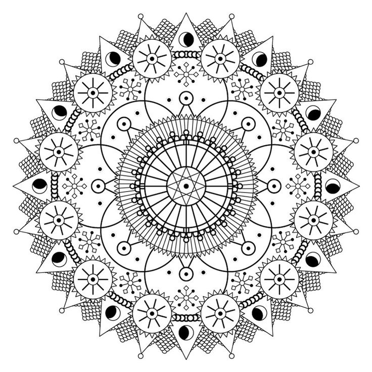 Mandala Coloring Page Snowtime Adult Coloring Page By