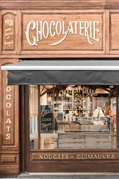The chocolate Shop.