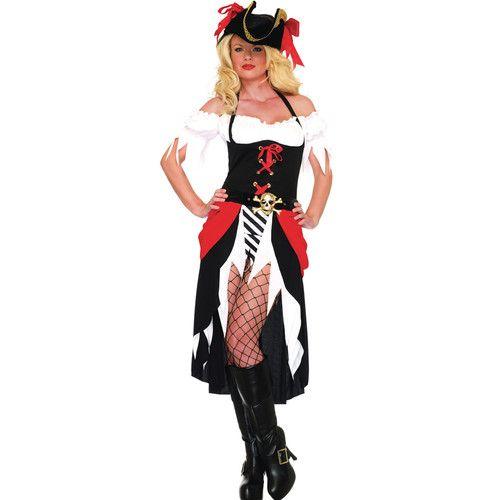 Sexy Leg Avenue Womens Pirate Wench Halloween Costume Fancy Dress Plus Size XL | eBay