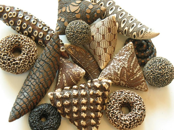 Not polymer, but great inspiration! Ceramic Rattles by Kelly Jean Ohl :: River Gallery