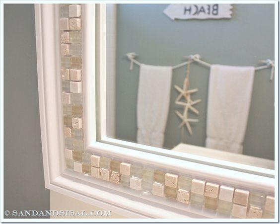 Best 25 Tile Mirror Frames Ideas On Pinterest Tile Mirror Bathroom Mirror Inspiration And