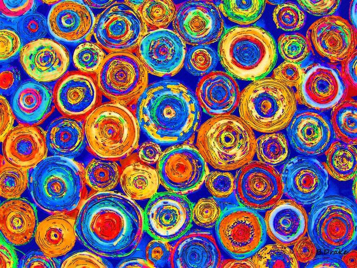 Colored Paper Rounds Digital Art