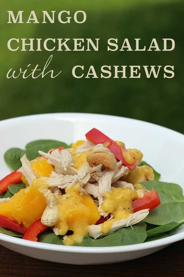 Mango Chicken Salad with Cashews | diabeticfoodie.com