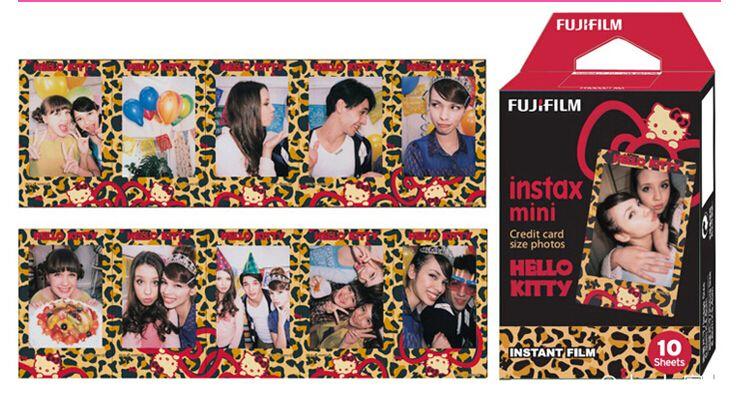 10 Лист-Пленка Fujifilm Instax Mini для Fuji 7 s 8 25 50 s 90 Мгновенной фотографии, поделиться СП-1 Леопарда