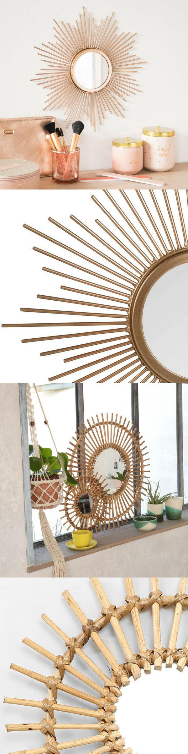 voici o trouver un miroir soleil pas cher vintage dor. Black Bedroom Furniture Sets. Home Design Ideas