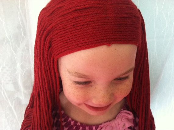 Sally Wig Red Wig Sally Costume Yarn Wigs by PoshPrincessBraids