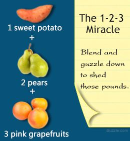 Sweet potato, pear, and grapefruit juice recipe for weight loss