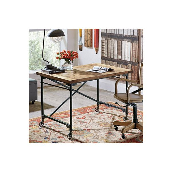 Grandin Road Piedmont Desk (u20ac440) ❤ Liked On Polyvore Featuring Home,  Furniture