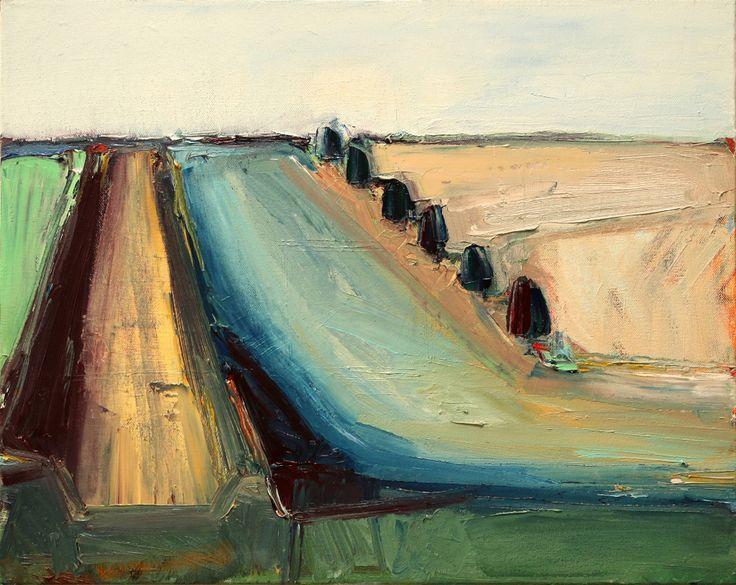 "Bakersfield #9  16"" x 20"", oil on canvas, 2015, by Katja Leibenath, San Francisco"