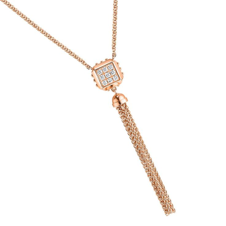 Louis Vuitton Emprise pink gold and diamond pendant necklace