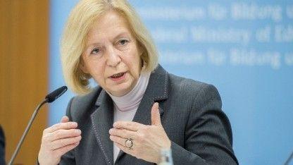 Forschungsministerin Johanna Wanka: Forschung als die Basis für den Technologiestandort Deutschland