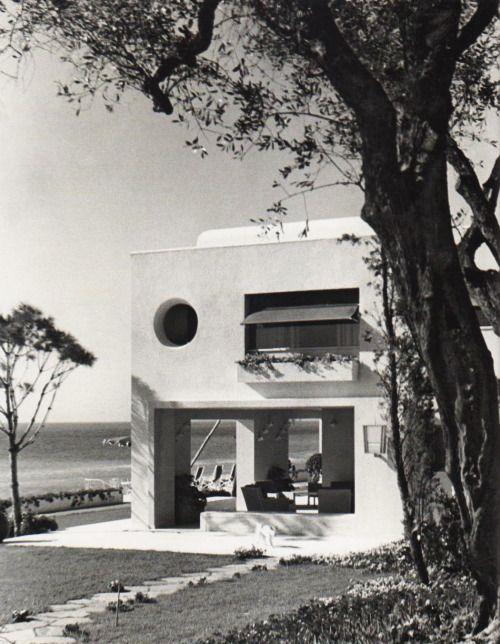 Villa Donegani in Bordighera, Italy, by Gio Ponti, 1940.